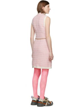 photo Pink Tweed Dress by Gucci - Image 3