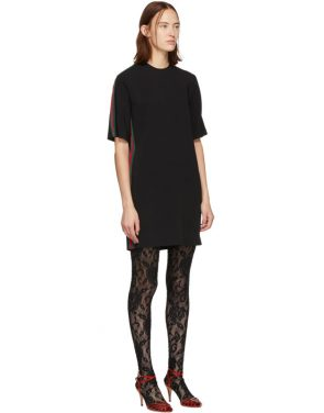 photo Black Web Tunic Dress by Gucci - Image 2