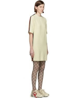 photo Off-White Cady Short Dress by Gucci - Image 2