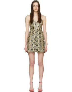 photo Beige Python Mini Dress by Gucci - Image 1