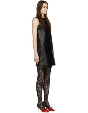 photo Black Croc Short Dress by Gucci - Image 2