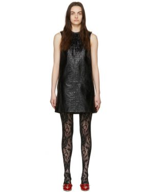 photo Black Croc Short Dress by Gucci - Image 1