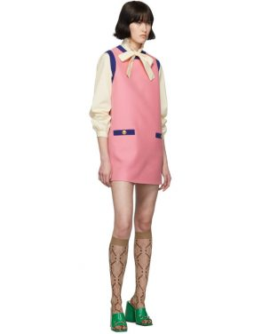 photo Pink and Blue Bicolor Mini Dress by Gucci - Image 5