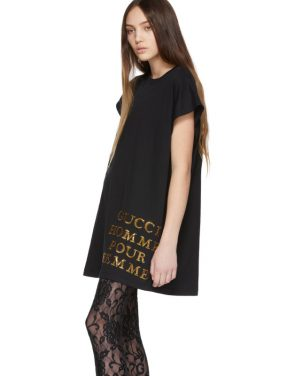 photo Black Sequin Homme Pour Femme T-Shirt by Gucci - Image 4
