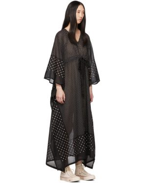 photo Black Kaftan Dots Dress by Visvim - Image 2