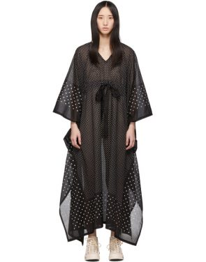 photo Black Kaftan Dots Dress by Visvim - Image 1