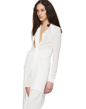 photo White La Robe Bellagio Dress by Jacquemus - Image 4