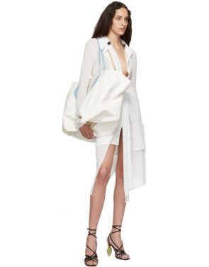 photo White La Robe Bellagio Dress by Jacquemus - Image 5