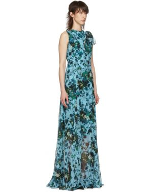 photo Blue and Green Fitzroy Rose Kassidy Dress by Erdem - Image 2