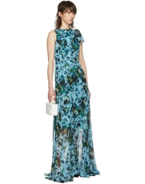 photo Blue and Green Fitzroy Rose Kassidy Dress by Erdem - Image 5