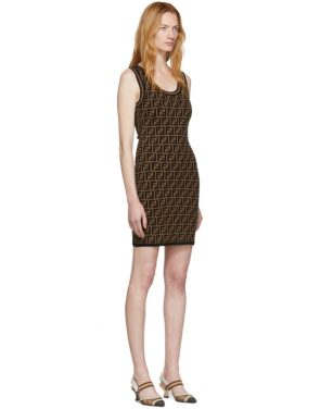 photo Black and Brown Knit Forever Dress by Fendi - Image 2