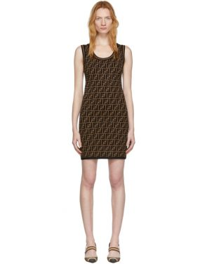 photo Black and Brown Knit Forever Dress by Fendi - Image 1