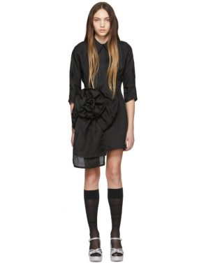 photo Black Pointy Collar Dress by Miu Miu - Image 1