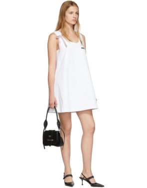 photo White Bow Detail Sleeveless Dress by Prada - Image 5