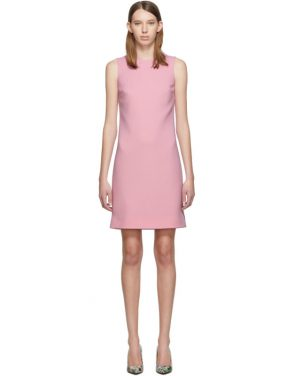 photo Pink Wool Crepe Dress by Dolce and Gabbana - Image 1