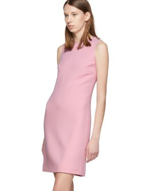photo Pink Wool Crepe Dress by Dolce and Gabbana - Image 4