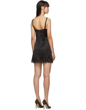 photo Black Silk Short Dress by Dolce and Gabbana - Image 3