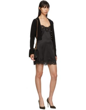 photo Black Silk Short Dress by Dolce and Gabbana - Image 5