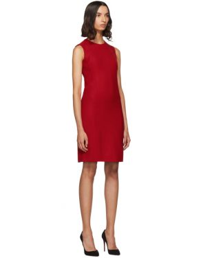 photo Red Short Crepe Dress by Dolce and Gabbana - Image 2