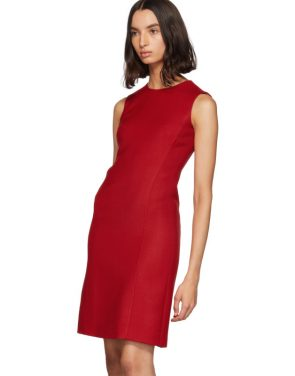 photo Red Short Crepe Dress by Dolce and Gabbana - Image 4