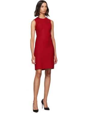 photo Red Short Crepe Dress by Dolce and Gabbana - Image 5