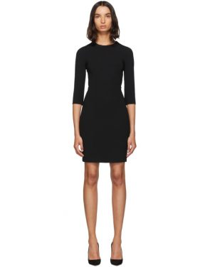 photo Black Three-Quarter Sleeve Mini Dress by Dolce and Gabbana - Image 1