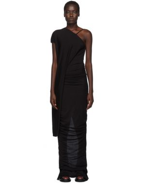 photo Black Single-Shoulder Gown by Rick Owens Lilies - Image 1