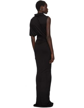 photo Black Turtleneck Gown Dress by Rick Owens Lilies - Image 3