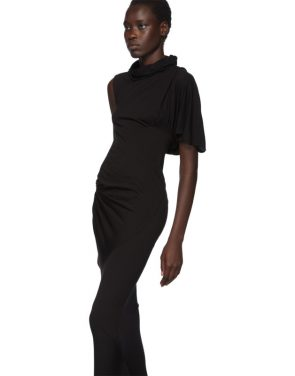 photo Black Turtleneck Gown Dress by Rick Owens Lilies - Image 4