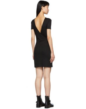 photo Black Ribbed Dress by rag and bone - Image 3