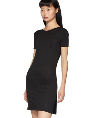 photo Black Ribbed Dress by rag and bone - Image 4