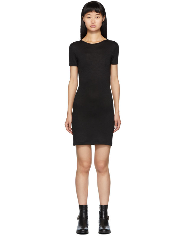 photo Black Ribbed Dress by rag and bone - Image 1