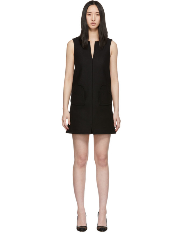 photo Black Sleeveless Shift Dress by RED Valentino - Image 1