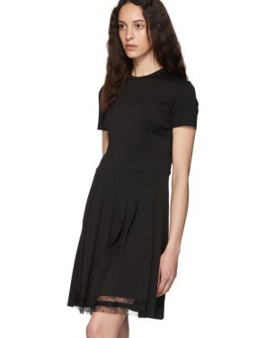 photo Black Pleated Dress by RED Valentino - Image 4