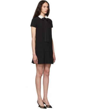 photo Black Satin Bow Dress by RED Valentino - Image 2