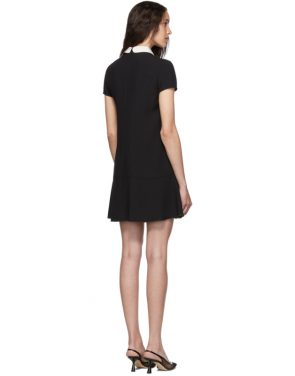 photo Black Satin Bow Dress by RED Valentino - Image 3