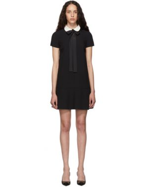 photo Black Satin Bow Dress by RED Valentino - Image 1