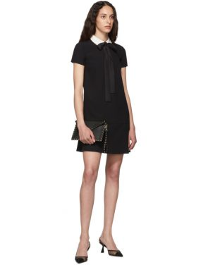 photo Black Satin Bow Dress by RED Valentino - Image 5