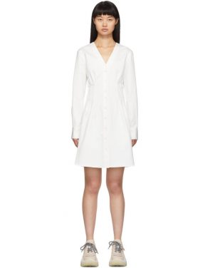 photo White Dominic Shirt Dress by Tibi - Image 1
