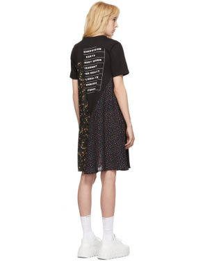 photo Black Hybrid T-Shirt Dress by McQ Alexander McQueen - Image 3