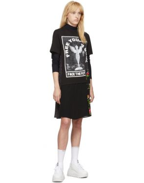 photo Black Hybrid T-Shirt Dress by McQ Alexander McQueen - Image 5