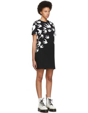 photo Black and White Swallow Signature T-Shirt Dress by McQ Alexander McQueen - Image 2
