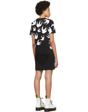 photo Black and White Swallow Signature T-Shirt Dress by McQ Alexander McQueen - Image 3