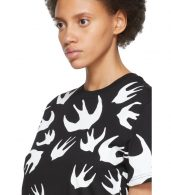 photo Black and White Swallow Signature T-Shirt Dress by McQ Alexander McQueen - Image 4