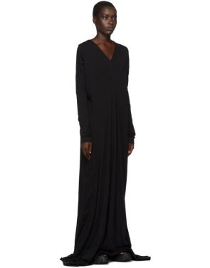 photo Black Long Sleeve Gown by Rick Owens Drkshdw - Image 2