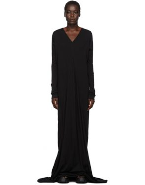 photo Black Long Sleeve Gown by Rick Owens Drkshdw - Image 1