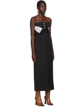photo Black Dagila Tuxedo Dress by Acne Studios - Image 2