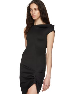 photo Black Front Drape Dress by Helmut Lang - Image 4
