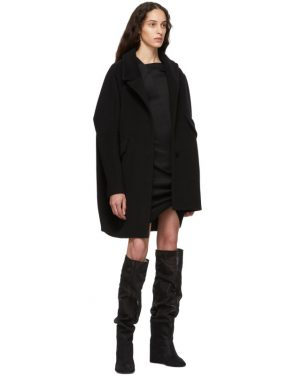 photo Black Front Drape Dress by Helmut Lang - Image 5