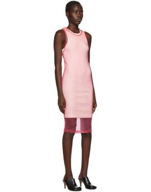 photo Pink Masc Tank Dress by Helmut Lang - Image 2
